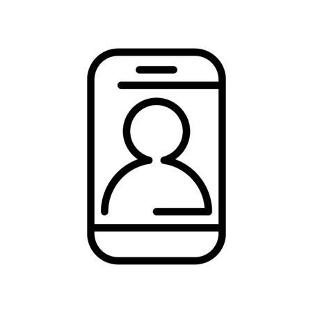 smartphone with user profile line style icon vector illustration design