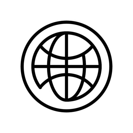 sphere browser line style icon vector illustration design