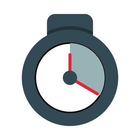 chronometer timer counter isolated icon vector illustration design Çizim