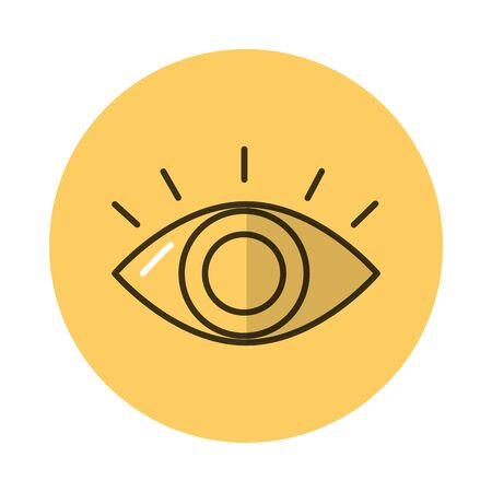 eye human organ block style icon vector illustration design