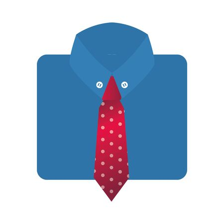 elegant shirt with necktie isolated icon vector illustration design