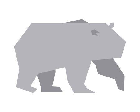 polar bear animal silhouette icon vector illustration design Illustration