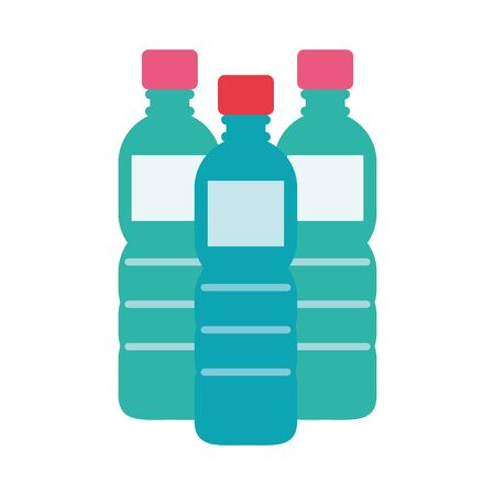 water bottles plastic isolated icon vector illustration design