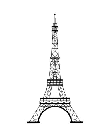 tower eiffel france monument icon vector illustration