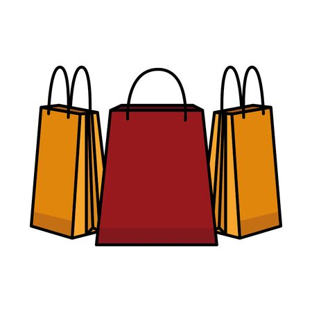 paper shopping bags isolated icons vector illustration design Ilustracja