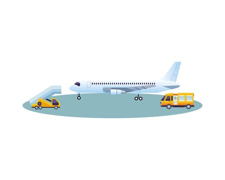 airplane airline vehicle isolated icon vector illustration design