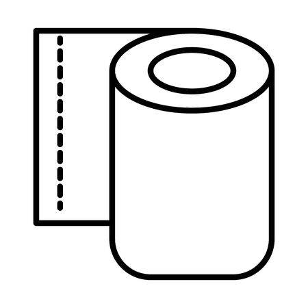 toilet paper roll line style icon vector illustration design