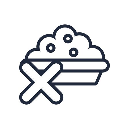 muslim dish with food line icon vector illustration design