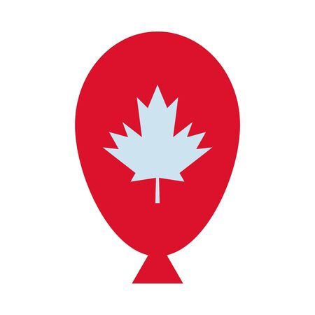 maple leaf canadian in balloon helium vector illustration design 矢量图像