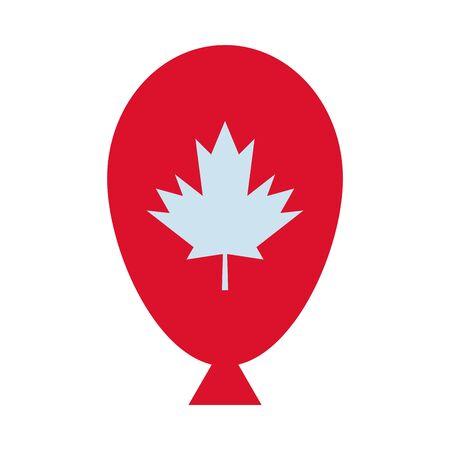 maple leaf canadian in balloon helium vector illustration design Illustration