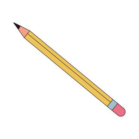 pencil graphite school supply icon vector illustration design 向量圖像
