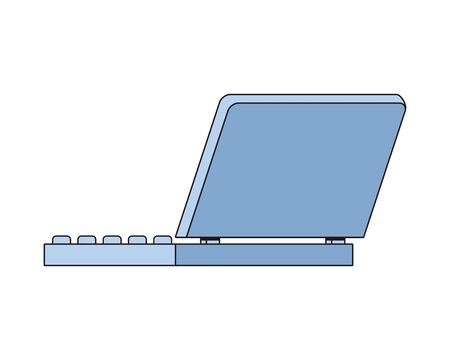 laptop computer portable device isolated icon vector illustration design