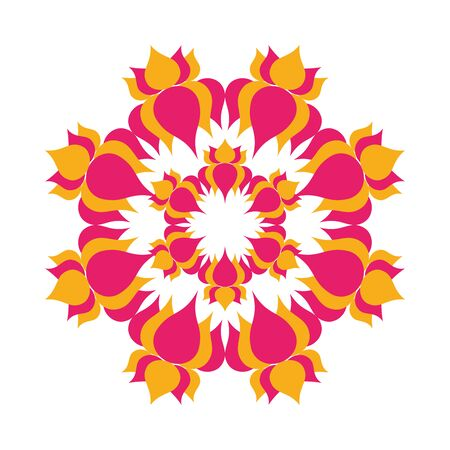 mandala with flowers hindu decoration vector illustration design Banque d'images - 149581295