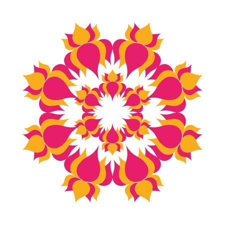 mandala with flowers hindu decoration vector illustration design Illustration