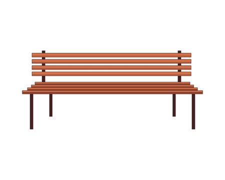 wooden park chair isolated icon vector illustration design
