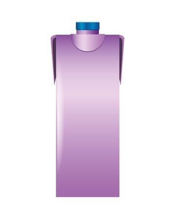 bottle product with metalic purple color vector illustration design Vectores