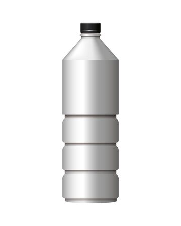 bottle product with metalic gray color vector illustration design