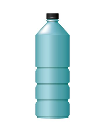 bottle product with metalic blue color vector illustration design