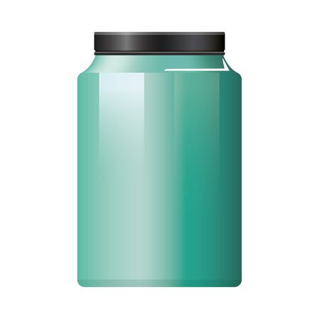 pot bottle product with metalic green color vector illustration design Vectores