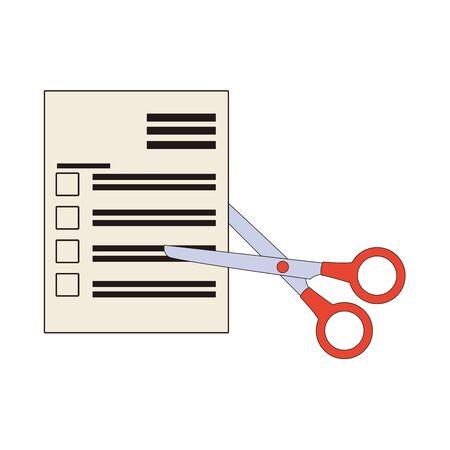 scissors cutting tool supply icon vector illustration design