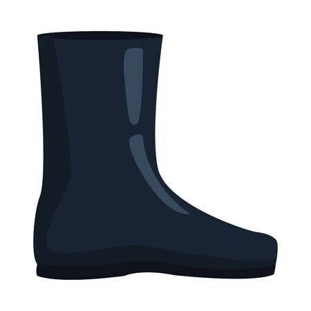 rubber boots accessory isolated icon vector illustration design 向量圖像
