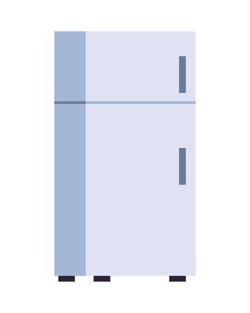 fridge kitchen appliance isolated icon vector illustration design Vettoriali