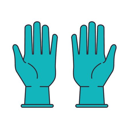 rubber gloves line style icon vector illustration design