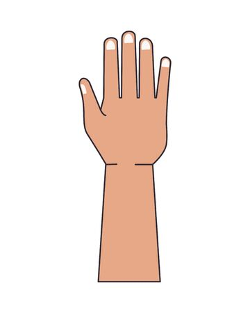 hand human stop signal icon vector illustration design Vectores