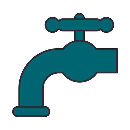 tap faucet water isolated icon vector illustration design