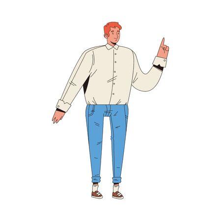 young man male avatar character vector illustration design Illustration