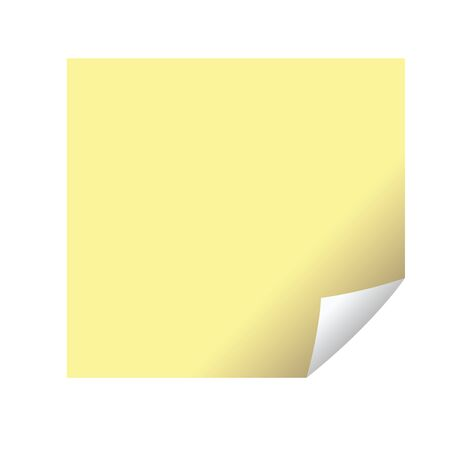 yellow paper sheet note isolated icon vector illustration design Vectores