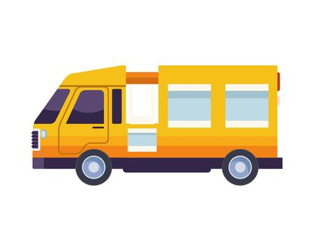 airport van transport isolated icon vector illustration design Illustration