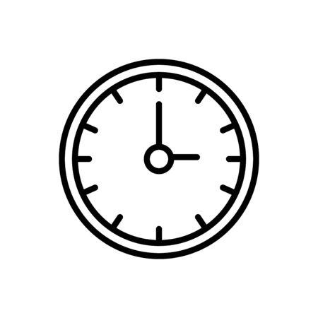 time clock line style icon vector illustration design