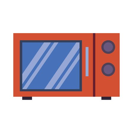 microwaves oven kitchen appliance isolated icon vector illustration design
