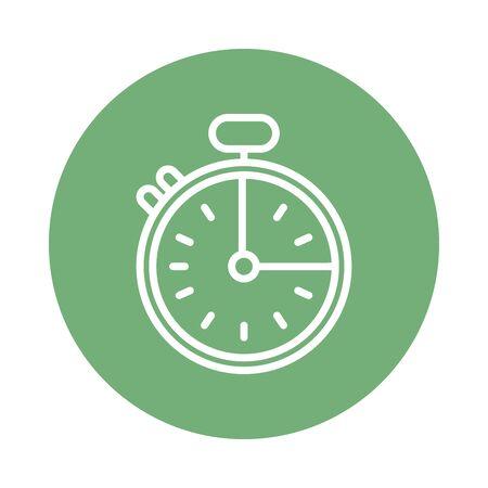 chronometer timer line style icon vector illustration design Illusztráció