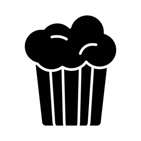 sweet cupcake silhouette style icon vector illustration design