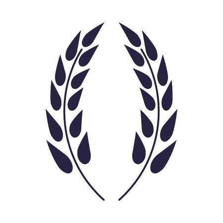 wheat spikes elegant decorative frame vector illustration design Vettoriali