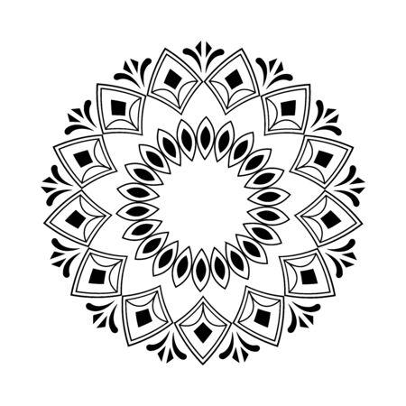 floral mandala decoration isolated icon vector illustration design
