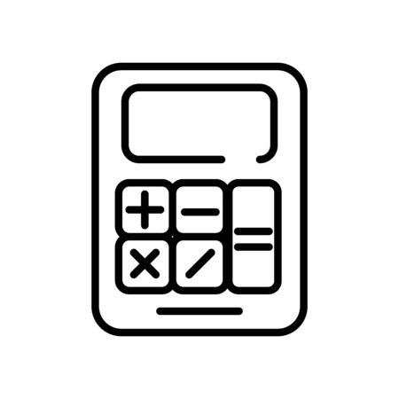 calculator math device line style icon vector illustration design Ilustração