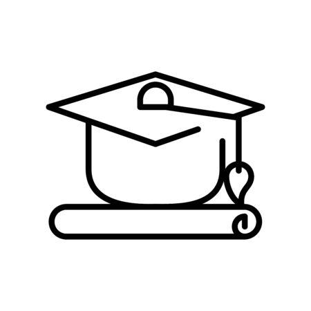 graduation hat celebration isolated icon vector illustration design