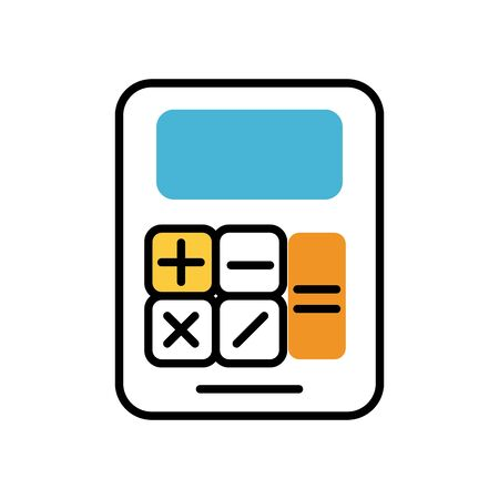 calculator math device fill style icon vector illustration design Ilustração