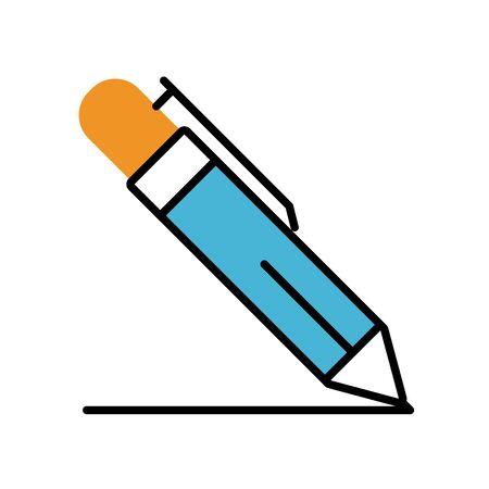 pen writing fill style icon vector illustration design
