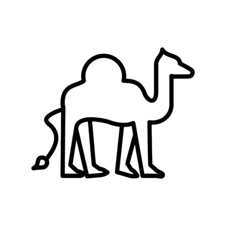 camel animal line style icon vector illustration design Иллюстрация