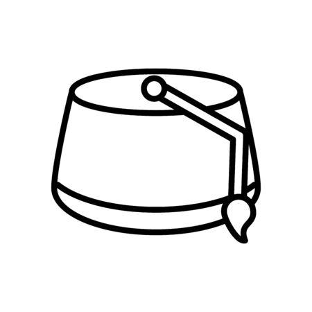 muslim hat line style icon vector illustration design Vectores
