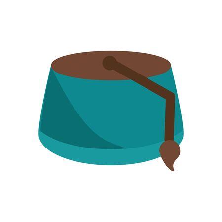 muslim hat flat style icon vector illustration design