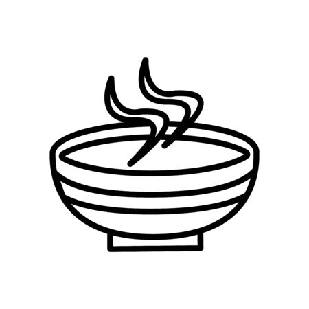 muslim dish with food line icon vector illustration design Vectores