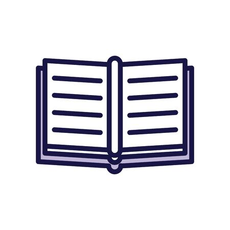 text book line style icon vector illustration design