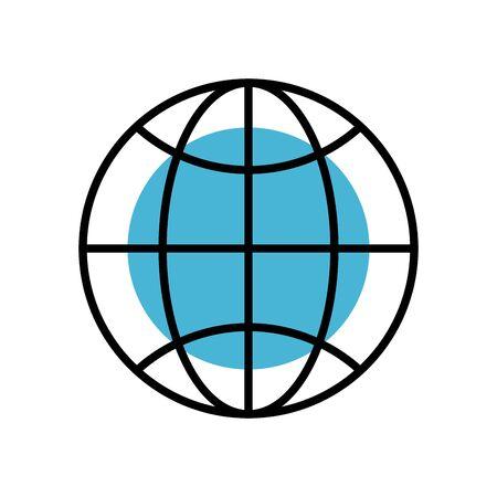 sphere browser globe fill style icon vector illustration design