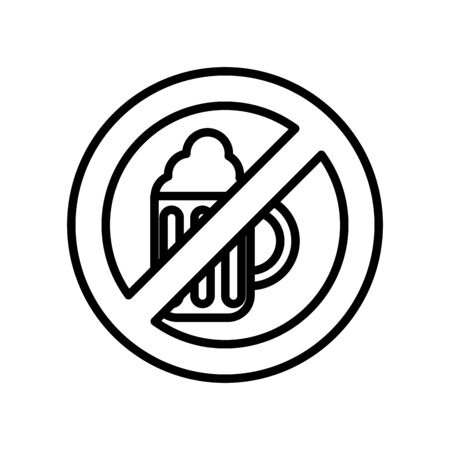 dont drink beer line style icon vector illustration design