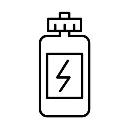 water gym bottle line style icon vector illustration design